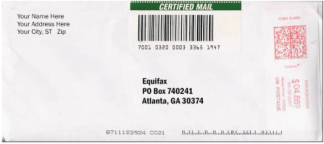 how to send a letter certified mail advertising 22355