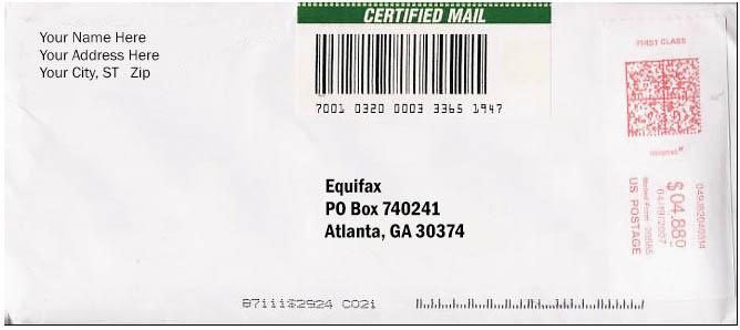 Send Certified U.S. Mail